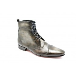 "Bottines JAZZ High Patine ""Gris Ardoise"" par l'Atelier Paulus Bolten"
