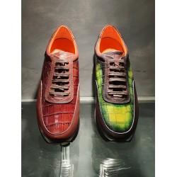 Sneakers Medium JACK'S Pitone Unito Brown