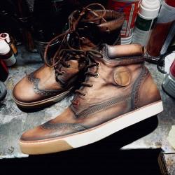 """copy of Sneakers ALCHIMIST patine """"Crème Brûlée"""" par Atelier Paulus Bolten"""