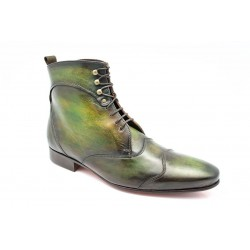 "Bottines JAZZ High Patine ""Vert Japon"" par l'Atelier Paulus Bolten"